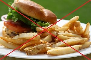 Отказ от жирной и жареной пищи