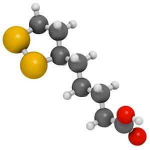Молекула тиоктовой кислоты