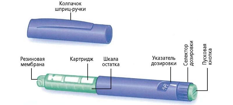 Общее устройство шприц-ручки