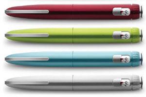 Шприц-ручки разных цветов
