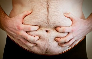 Толстый живот