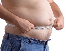 Окружность талии у мужчины при ожирении
