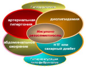 Основные звенья метаболического синдрома